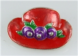 6030016 Ladies Red Hat Society Club Pin Brooche Clothes Clothing Redhat
