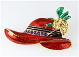 6030023 Ladies Red Hat Society Club Pin Brooche Clothes Clothing Redhat