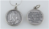 6030035 Serenity Prayer Pendant Necklace One Day at a Time AA NA AL ANON