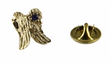 6030042 Angel Wings Lapel Pin September Birthstone In Memory Of Tribute Honor