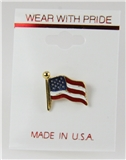 6030081 American Flag USA United States Flag Red White Blue Made in USA Lapel...