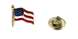 6030081 American US Flag Lapel Pin Made in USA United States Flag Red White B...