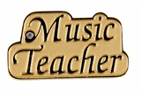 6030139 Music Teacher Lapel Pin Brooch Gift Choir High School Jr High