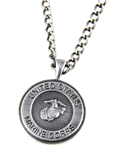 6030148 US United States Marine Corp Marines Necklace Medallion Armed Service...