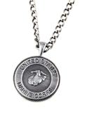 6030148 US United States Marine Corp Marines Necklace Medallion Armed Service...