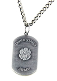 6030151 US United States Army Necklace Medallion Armed Services Army of One 1...