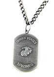 6030152 US United States Marine Corp Marines Necklace Medallion Armed Service...