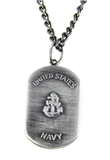 6030153 US United States Navy Necklace Medallion Armed Services Dogtag Dog Tag