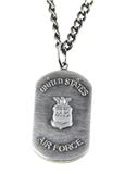 6030154 US United States Air Force Necklace Medallion Armed Services Dogtag D...