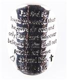 6030191 Christian John 3:16 Stretch Ring Scripture Religious Bible Verse