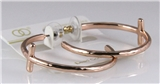 6030207 Christian Cross Hoop Loop Earrings Copper Plated 1.5 Inch Bible Relig...