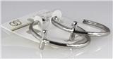 6030209 1.5 Inch Hoop Cross Christian Earrings Pierced Religious Inspirational