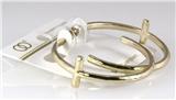 6030210 1.5 Inch Hoop Cross Christian Earrings Pierced Religious Inspirational