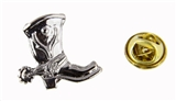 6030251 Western Cowboy Boot with Spur Lapel Pin Tie Tack Brooch Cowgirl