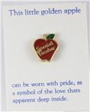6030293 Special Teacher Apple Lapel Pin Appreciation Year End Gift Present