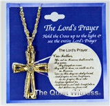 6030299 Our Father Cross Necklace The Lord's Prayer Hidden Miniature
