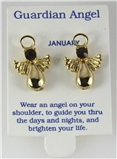 6030320 January Guardian Angel Birthstone Stud 14kt Gold Plated Earrings Chri...