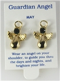 6030324 May Guardian Angel Birthstone Stud 14kt Gold Plated Earrings Christia...