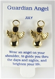 6030326 July Guardian Angel Birthstone Stud 14kt Gold Plated Earrings Christi...