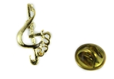 6030385 Music Note & Jesus Lapel Pin Music Minister Volunteer Church Choir La...