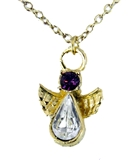6030420 February Birthstone Angel Necklace Pendant Guardian Secret Appreciati...