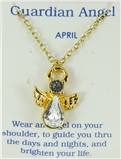 6030422 April Birthstone Angel Necklace Pendant Guardian Secret Appreciation ...