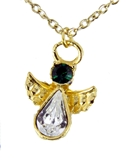 6030423 May Birthstone Angel Necklace Pendant Guardian Secret Appreciation Re...