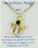 6030423 May Birthstone Angel Necklace Pendant Guardian Secret Appreciation Re...