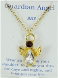 6030425 July Birthstone Angel Necklace Pendant Guardian Secret Appreciation R...