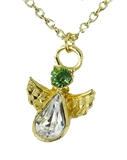 6030426 August Birthstone Angel Necklace Pendant Guardian Secret Appreciation...