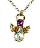 6030428 October Birthstone Angel Necklace Pendant Guardian Secret Appreciatio...