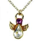 6030428 October Birthstone Angel Necklace Pendant Guardian Secret Appreciatio...
