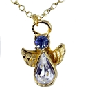 6030430 December Birthstone Angel Necklace Pendant Guardian Secret Appreciati...