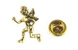 6030467 Running Guardian Angel Lapel Pin Jogging Track Protector