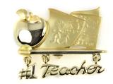 6030476 #1 Teacher Brooch Pin Teacher Appreciation Year End Gift Present
