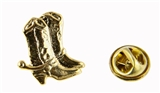 6030507 Cowboy Boots Lapel Pin Brooch Tie Tack Western Theme Cowgirl