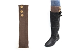 7030019 Tall Brown 3 Button Boot Cuffs