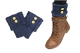7030027 Blue Folded 2 Button Boot Cuffs