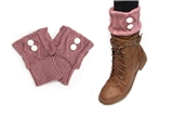 7030029 Pink Folded 2 Button Boot Cuffs