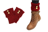 7030031 Red Folded 2 Button Boot Cuffs