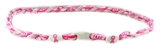 7030151 Breast Cancer Awareness Necklace Double Pink Braided Cord Courage Hop...