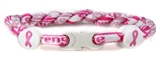 7030153 Breast Cancer Awareness Bracelet Double Pink Braided Cord Courage Hop...
