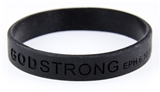 8010001 Set of 3 Black Adult Embossed Godstrong Silicone Band Eph. Ephesians ...