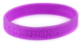 8010004 Set of 3 Purple Adult Embossed Godstrong Silicone Band Eph. Ephesians...