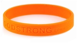 8010005  Set of 3 Orange Adult Embossed Godstrong Silicone Band Eph. Ephesians...