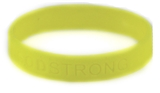8010006 Set of 3 Yellow Adult Embossed Godstrong Silicone Band Eph. Ephesians...