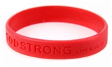 8020002 Set of 3 Red Child Embossed Godstrong Silicone Band Eph. Ephesians 6:...