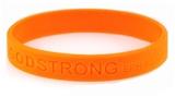 8020005 Set of 3 Orange Child Embossed Godstrong Silicone Band Eph. Ephesians...