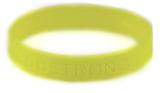 8020006 Set of 3 Yellow Child Embossed Godstrong Silicone Band Eph. Ephesians...