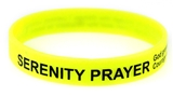 8090005 Set of 3 Serenity Prayer Silicone Bracelet Rubber God Grant Me AA ...